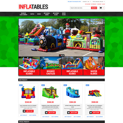 Inflatables Magento Theme (Magento theme for kids, babies, and children) Item Picture