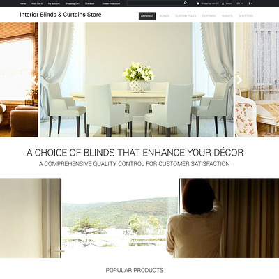 Interior Design OpenCart Template (OpenCart theme for interior design and home decor stores) Item Picture
