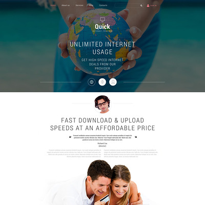 Internet Joomla Template (Joomla template for internet providers and communications companies) Item Picture