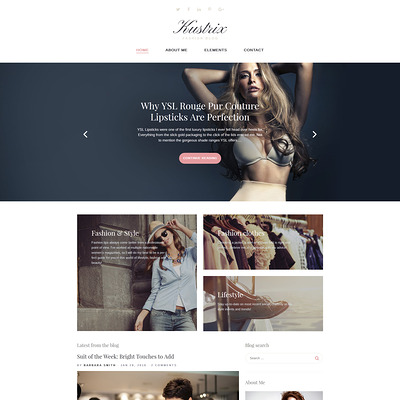 Kustrix (WordPress theme for fashion blogs) Item Picture