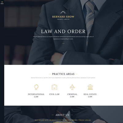 Lawyer Joomla Template (Joomla template for lawyers and law firms) Item Picture