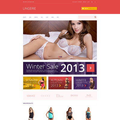 Lingerie Responsive Magento Theme (Magento theme for selling lingerie and underwear) Item Picture