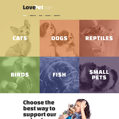 Love Pet Drupal Template (Drupal theme for pets and animals) Item Picture