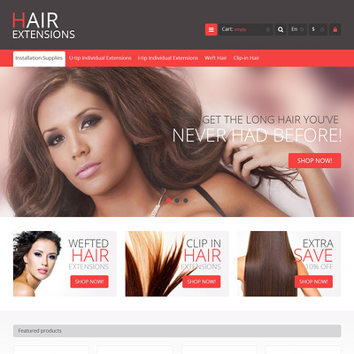 Luxury Hair PrestaShop Theme (PrestaShop theme for hair extensions and hair products) Item Picture