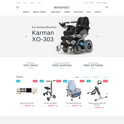 Mansavex (PrestaShop theme for health and medical stores) Item Picture