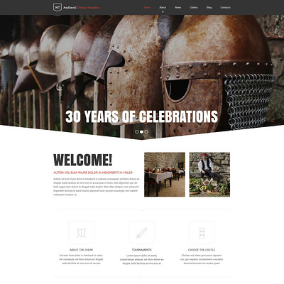 Medieval Dinner Theatre Drupal Template (Drupal theme for restaurants) Item Picture