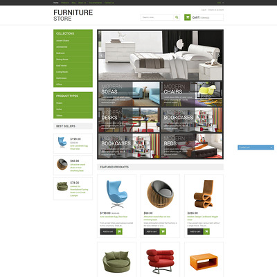 Modern Furniture Shopify Theme (Shopify theme for furniture stores) Item Picture