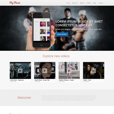Music Store Responsive Joomla Template (Joomla template for music websites) Item Picture