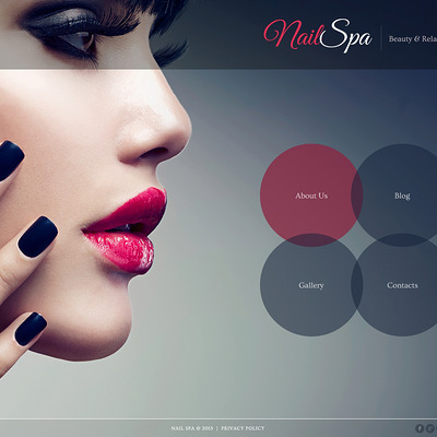 Nail Salon Responsive Joomla Template (Joomla template for spas and beauty salons) Item Picture