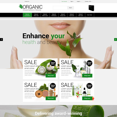 Natural Cosmetics PrestaShop Theme (PrestaShop theme for makeup, cosmetics, perfume, and beauty products) Item Picture