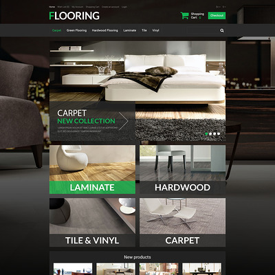 New Flooring OpenCart Template (OpenCart themes for flooring stores) Item Picture