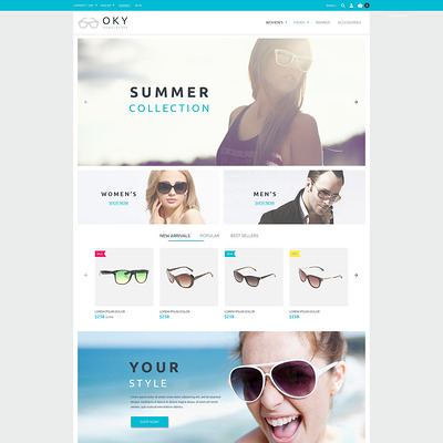 OKY PrestaShop Theme (PrestaShop theme for sunglasses and eyewear) Item Picture