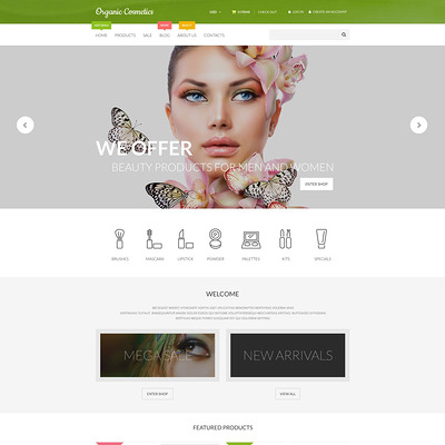 Organic Cosmetics Shopify Theme (Shopify theme for cosmetics and beauty products) Item Picture