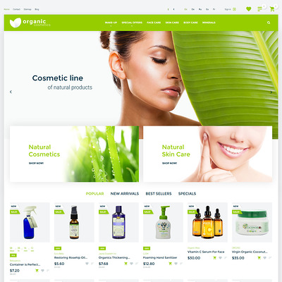 Organic cosmetics (PrestaShop theme for makeup, cosmetics, perfume, and beauty products) Item Picture