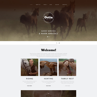 Ostin Joomla Template (Joomla theme for agriculture and farms) Item Picture