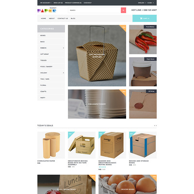 Packaging Responsive OpenCart Template (OpenCart theme for stationery, business cards, and office supplies) Item Picture
