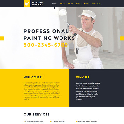 Painting Services Joomla Template (Joomla template for construction companies) Item Picture
