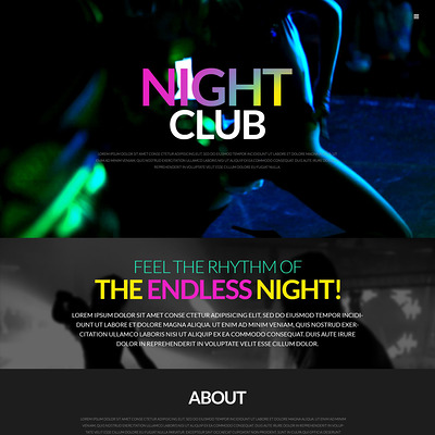 Party WordPress Theme (WordPress theme for night clubs) Item Picture