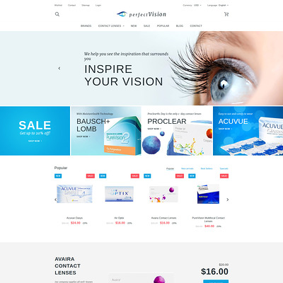 Perfect Vision PrestaShop Theme (PrestaShop theme for health and medical stores) Item Picture