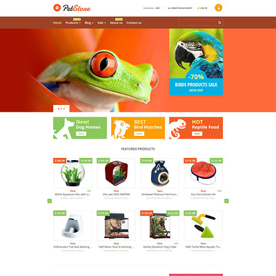 Pet Shop Responsive Shopify Theme (Shopify theme for animals and pets) Item Picture