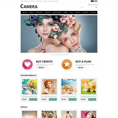 Photo Bank OpenCart Template (OpenCart theme for stock photo stores) Item Picture