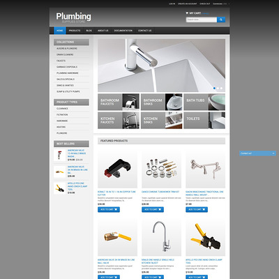 Plumbing Shopify Theme (Shopify theme for tools and home improvement stores) Item Picture
