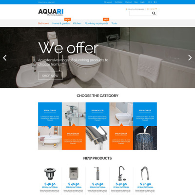 Plumbing Solutions Magento Theme (Magento theme for home improvement and construction supply stores) Item Picture