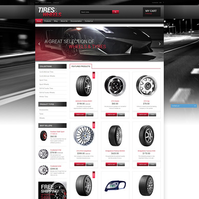 Quality Wheels and Tires Shopify Theme (Shopify theme for car, vehicle, and automotive stores) Item Picture