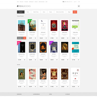 Real Books OpenCart Template (OpenCart theme for book stores) Item Picture