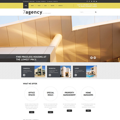 Real Estate Responsive Joomla Template (Joomla theme for real estate) Item Picture