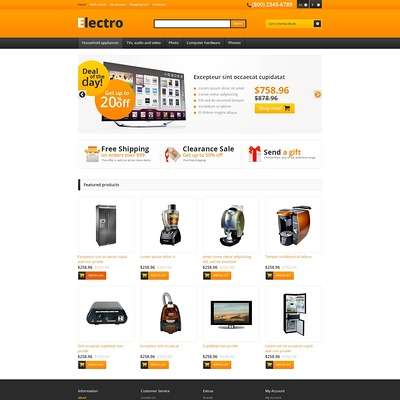Responsive Electro Store OpenCart Template (OpenCart theme for electronics) Item Picture