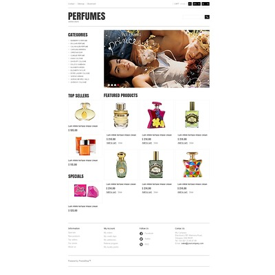 Responsive Perfumes Store PrestaShop Theme (PrestaShop theme for makeup, cosmetics, perfume, and beauty products) Item Picture