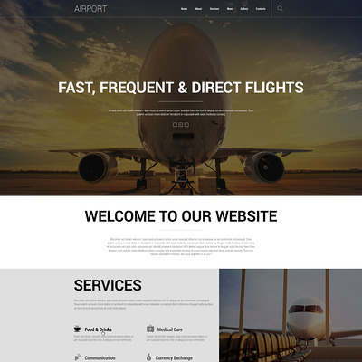 Safety at Airports Joomla Template (Joomla template for transportation) Item Picture