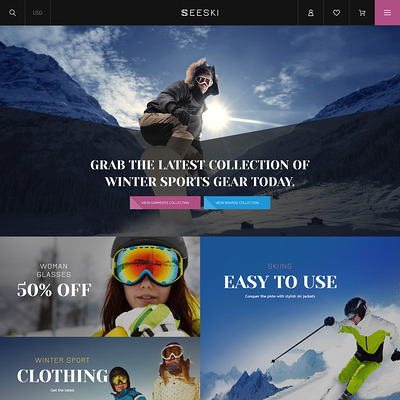 Skiing Responsive Shopify Theme (Shopify theme for sports stores) Item Picture