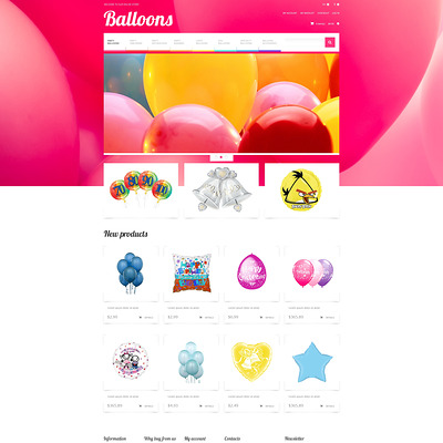 Soaring Happiness Magento Theme (Magento theme for kids, babies, and children) Item Picture