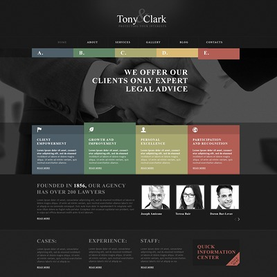Solid Law Firm WordPress Theme (WordPress theme for lawyers and law firms) Item Picture