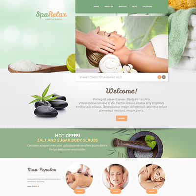 Spa salon WordPress Theme (WordPress theme for hair and beauty salons and spas) Item Picture