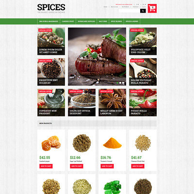 Spiced Dishes for Health Magento Theme (Magento theme for selling food and spices) Item Picture