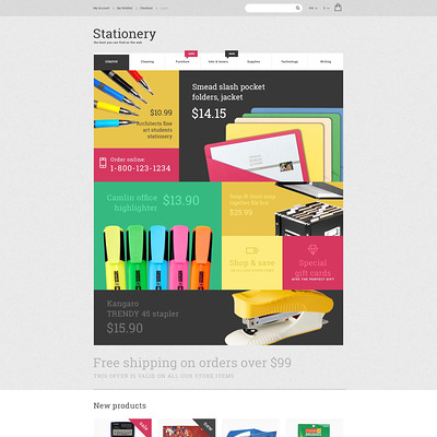 Stationery Store Magento Theme (Magento theme for office supplies and stationery) Item Picture