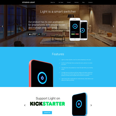 Studio Light WordPress Theme (WordPress theme for promoting apps) Item Picture