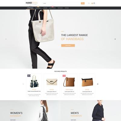 Stylish Bags Boutique Magento Theme (Magento theme for selling handbags and purses) Item Picture