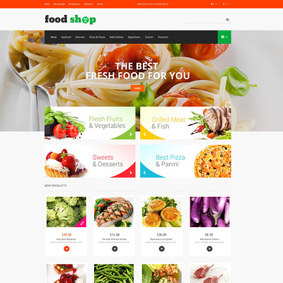 Tasty Shop Magento Theme (Magento theme for selling food and spices) Item Picture