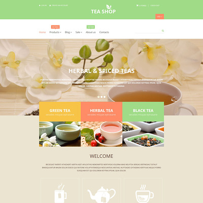 Tea Shop Shopify Theme (Shopify theme for wine, coffee, juice, tea, and other drinks) Item Picture