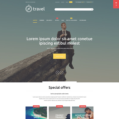 Travelers' Paradise Magento Theme (Magento theme for travel sites) Item Picture