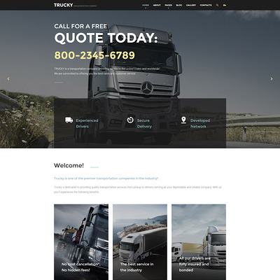 Trucky (Joomla template for transportation) Item Picture