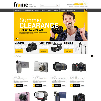 Video Store Responsive Magento Theme (Magento theme for electronics stores) Item Picture