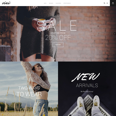 Vini (Magento theme for mens and womens clothing) Item Picture