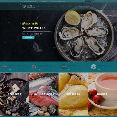 White Whale (WordPress theme for restaurants) Item Picture