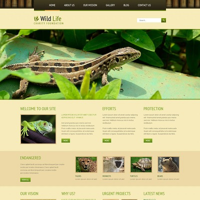 Wild Life Responsive Joomla Template (Joomla template for websites about pets and animals) Item Picture
