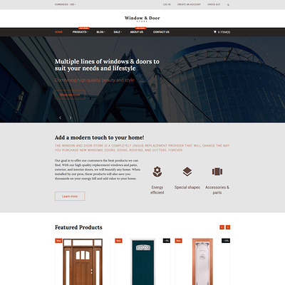 Windows and Doors Store Shopify Theme (Shopify theme for tools and home improvement stores) Item Picture